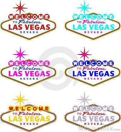 400x435 Vector Image Of Welcome To Las Vegas Sign In Different Colors