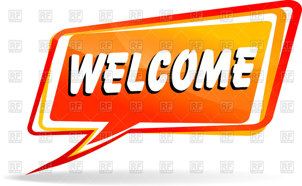 1200x739 Speech Bubble With Word Welcome Vector Image Vector Artwork Of