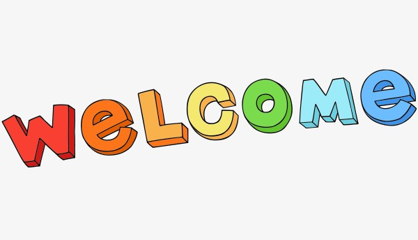 600x344 Vector Cartoon Welcome, Cartoon Vector, Vector, Cartoon Png And