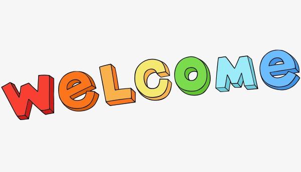 600x344 Vector Cartoon Welcome, Cartoon Vector, Vector, Cartoon Png And