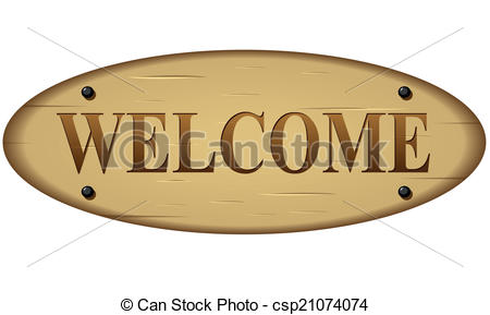 450x289 Vector Welcome Wood Sign. Vector Illustration Of Welcome Wood Sign