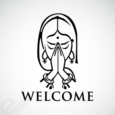 400x400 Welcome Gesture Of Namaste Free Vectors