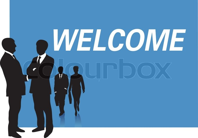 800x556 Business Presentation Welcome Stock Vector Colourbox