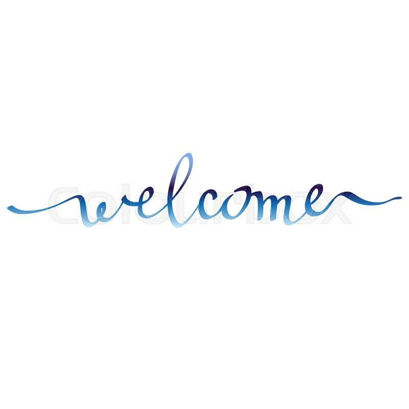 800x800 Calligraphy Sign Welcome On White Background Isolated. Hand