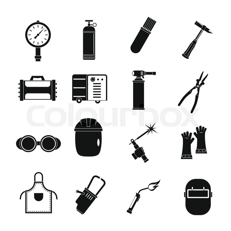 800x800 Welding Icons Set. Simple Illustration Of 16 Welding Vector Icons
