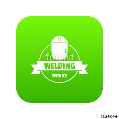 500x500 Welding Mask Icon Green Vector Isolated On White Background Stock