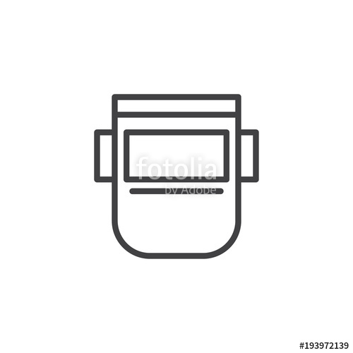 500x500 Welding Mask Outline Icon. Linear Style Sign For Mobile Concept