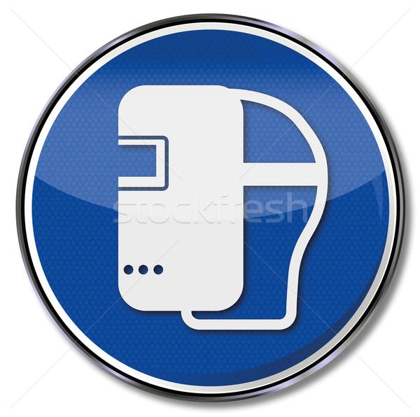 600x596 Mandatory Sign Use Welding Mask Vector Illustration Udo Schotten