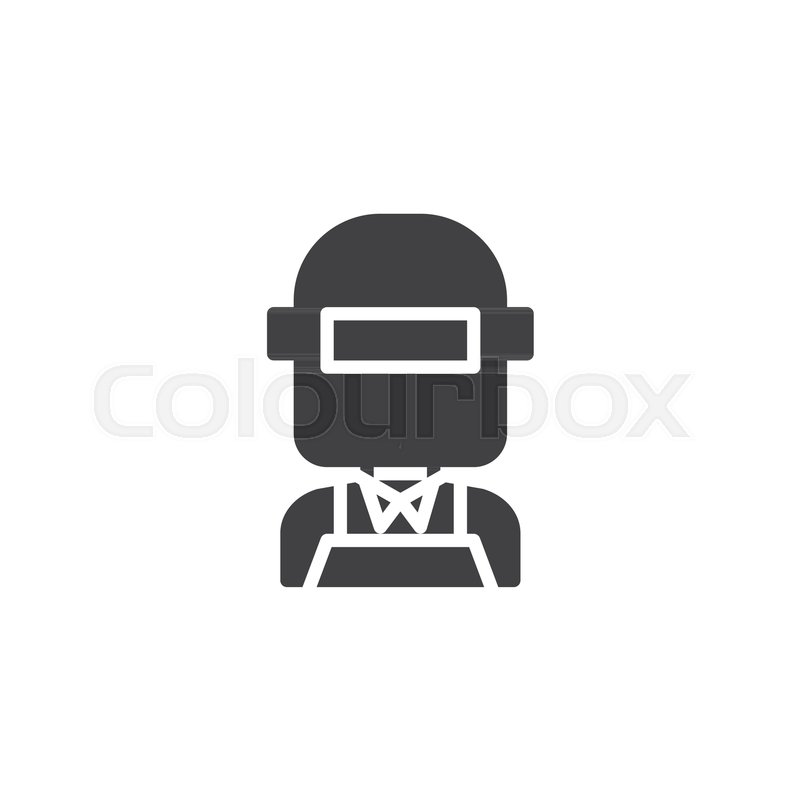 800x800 Welder In Welding Mask Vector Icon. Filled Flat Sign For Mobile