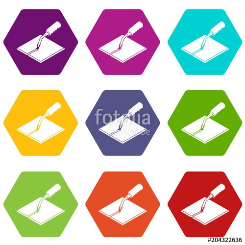 500x500 Welding Torch Icons Set 9 Vector Stock Image And Royalty Free