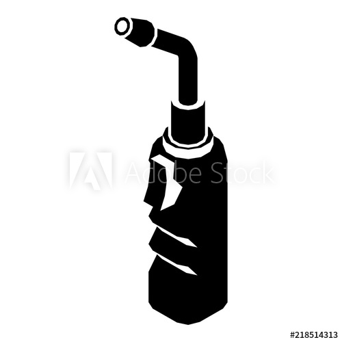 500x500 Avto Welding Torch Icon. Simple Illustration Of Avto Welding Torch