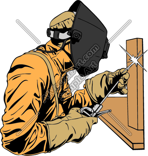 476x500 Welderc001 Clipart And Vectorart Occupations