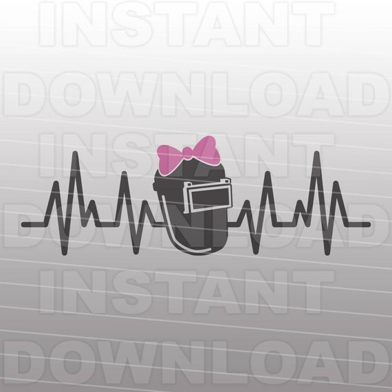 570x570 Welding Helmet Heartbeat Pulse Svg Filegirl Welder Svg Etsy