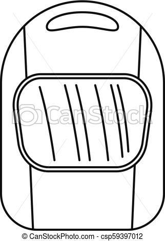 322x470 Welding Helmet Icon, Outline Style. Welding Helmet Icon. Outline