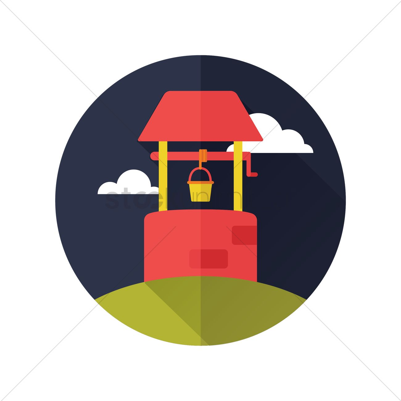 1300x1300 Water Well Vector Image