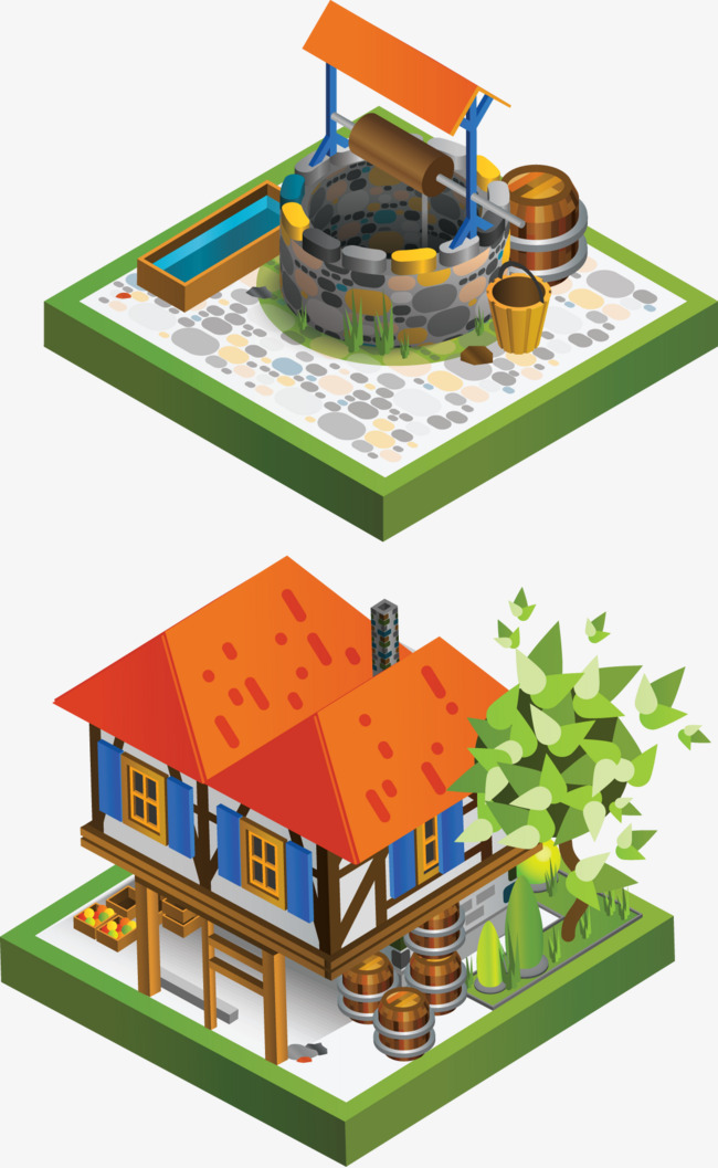 650x1057 Well Vector, Well, Cartoon, Decoration Png And Vector For Free