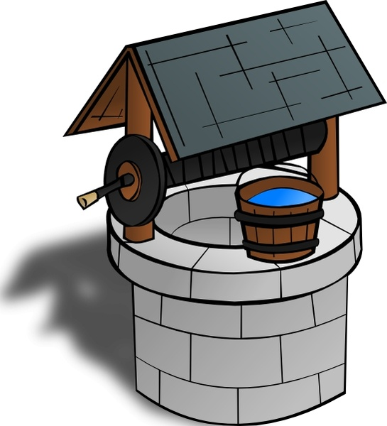 545x600 Wishing Well Clip Art Free Vector In Open Office Drawing Svg