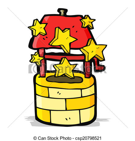 449x470 Cartoon Wishing Well Vector Illustration
