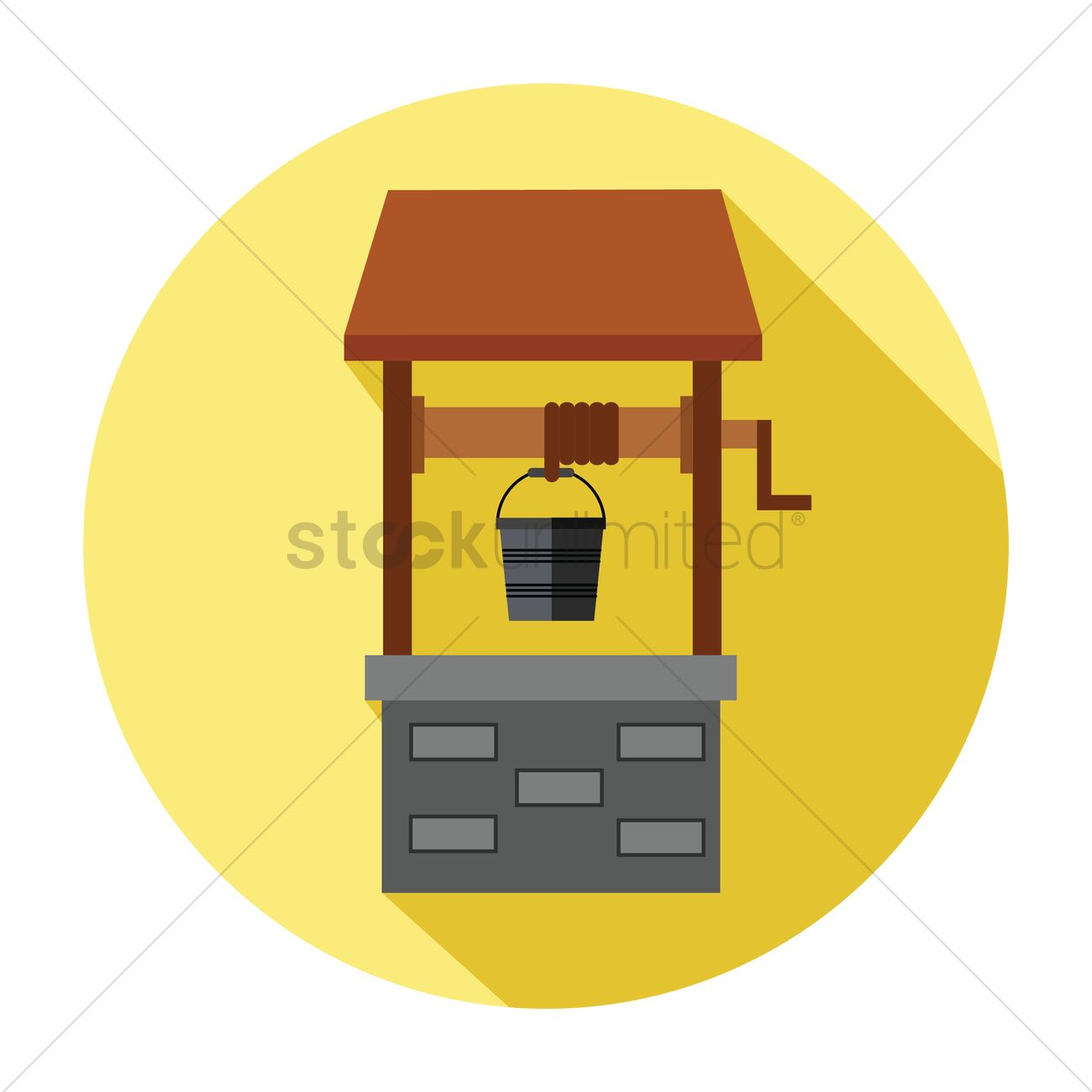 1300x1300 Free Water Well Vector Image