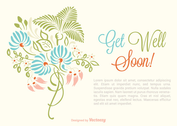 572x407 Get Well Soon Card Vector Free Vector Download In .ai, .eps