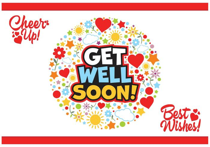 700x490 Get Well Soon Cards Vector Free