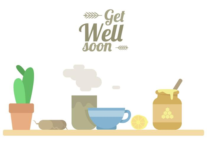 700x490 Get Well Soon Tea Vector