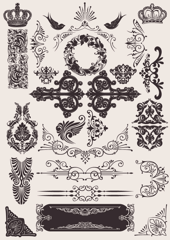 594x838 European Background Pattern Vector Material 2 Free Download Web