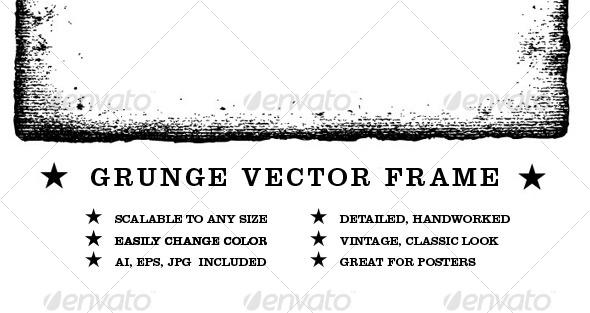 590x313 Grunge Vector Frame By Rashid Graphicriver