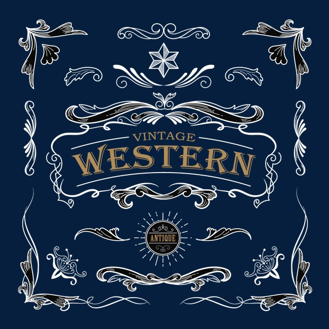 650x650 Western, Pattern Border, Vector Border, Frame Png And Vector For