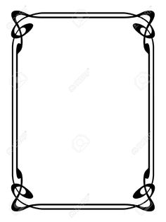 236x314 Fancy Corner Designs Western Border Clip Art