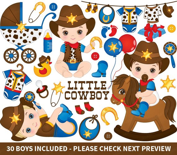570x499 Cowboys Baby Clipart Vector Cowboys Clipart Baby Clipart Etsy