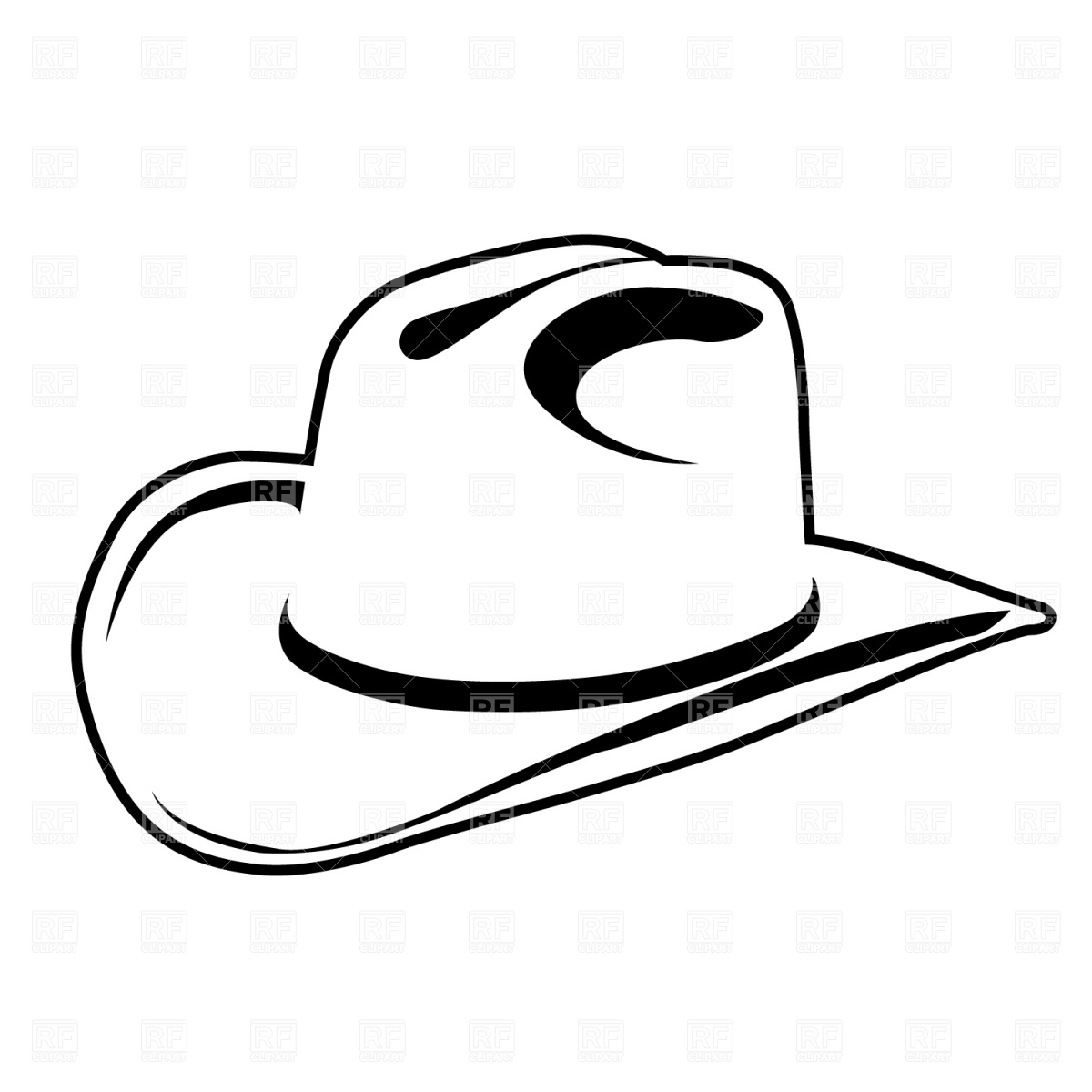 1200x1200 Simple Cowboy Hat Vector Image Vector Artwork Of Beauty, Fashion