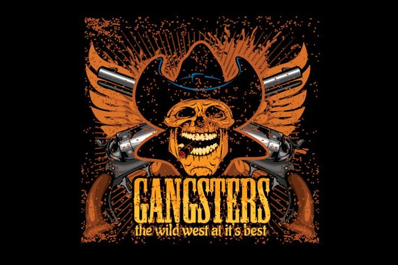570x380 Wild West Gangsters Vintage Western Clipart Vector Clip Art Etsy