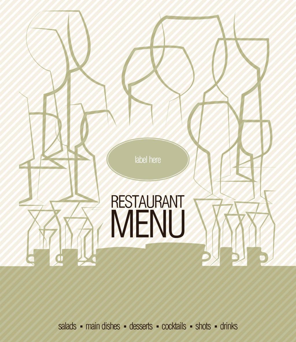 1024x1181 Western Restaurant Menu Design Vector Free Download Eps Files