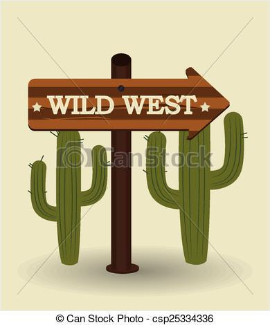 390x470 Western Design, Vector Illustration. Western Design Over Beige