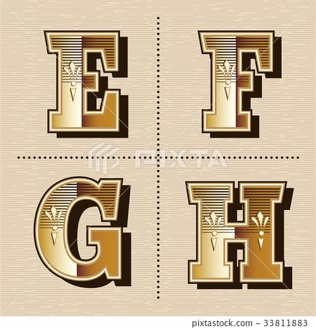 450x468 Western Alphabet Letters Font Design Vector