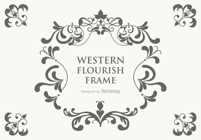 700x490 Vector Western Flourish Frame