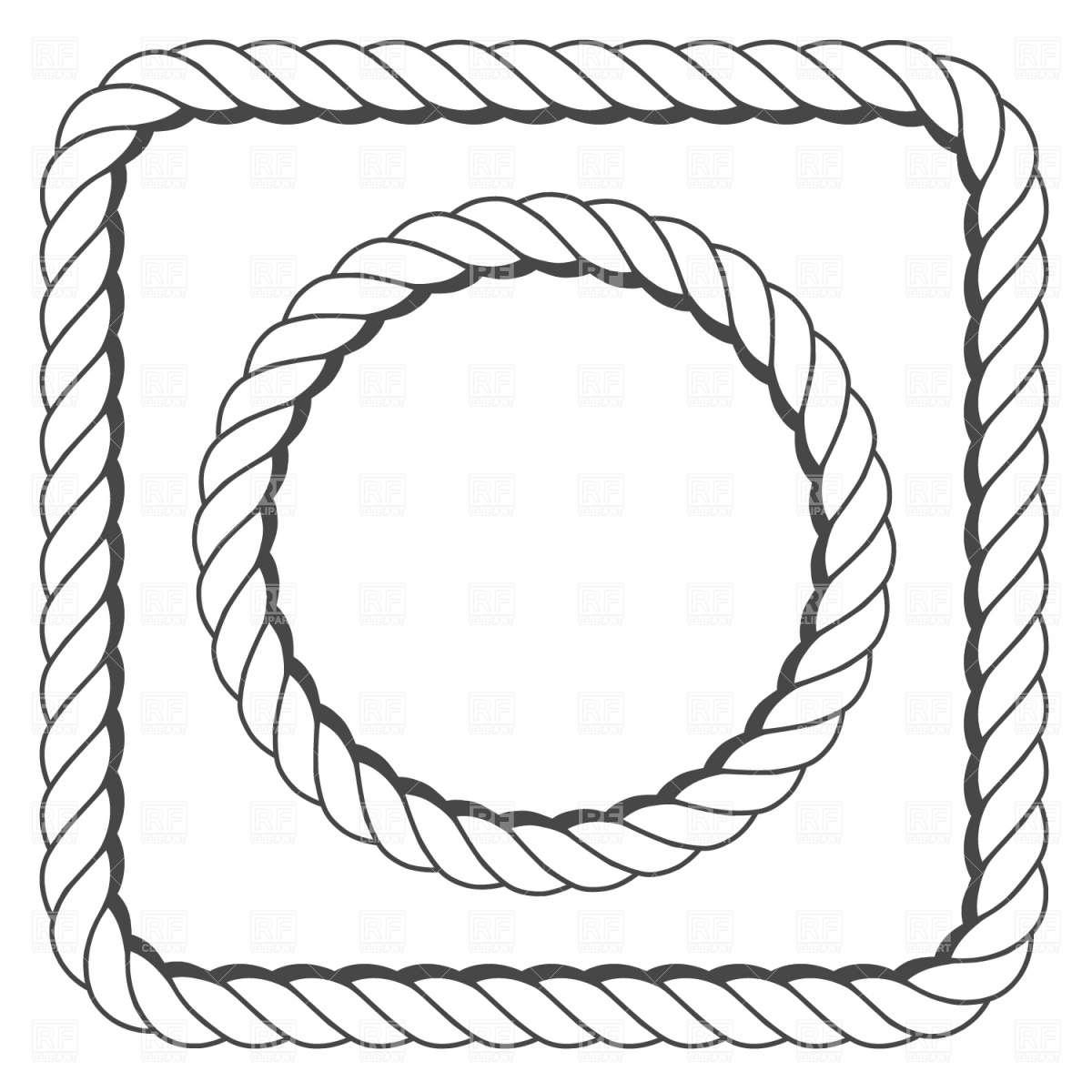1200x1200 Rope Frame Vector Image Vector Artwork Of Borders And Frames