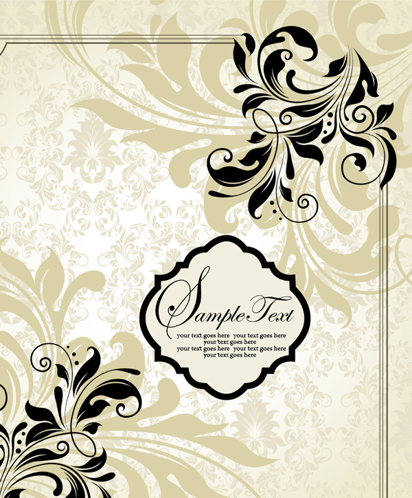600x724 Vector Western Pattern Frame Material Free Download Eps Files