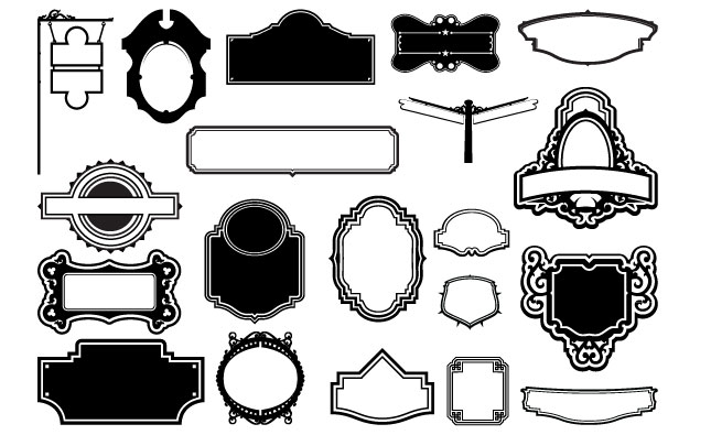 645x395 Frames And Signs Vector Pack