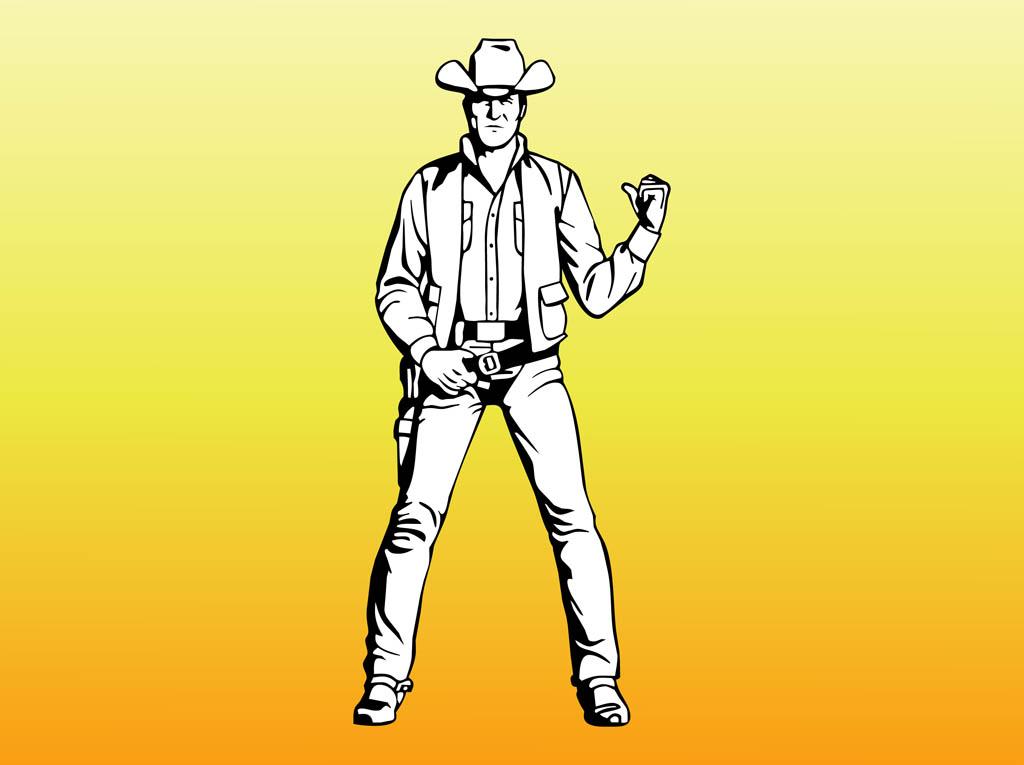 1024x765 Western Cowboy Portrait Vector Art Amp Graphics
