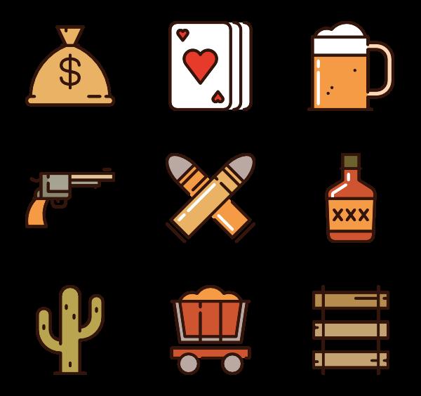 600x564 Western Icons