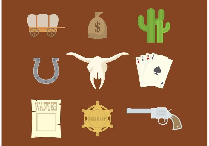 700x490 Western Vector Icons