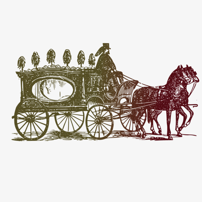 650x651 Western Vector Royal Carriage, Vector Hand Drawn Carriages