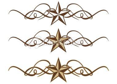 380x272 3 Variations Of An Elegant Star Scroll. Western Decor