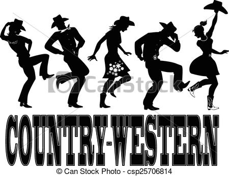 450x347 Country Western Dance Silhouette Ba. Silhouette Of People Dressed