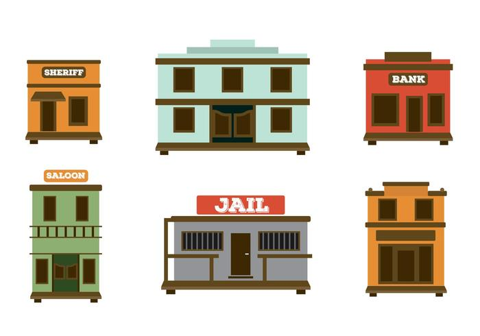 700x490 Old Western Town Vectors