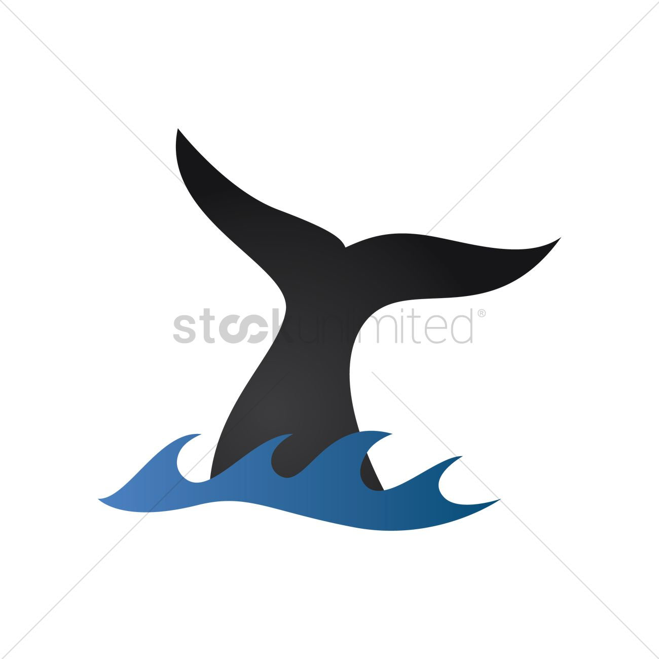 1300x1300 Whale Tail Vector Image
