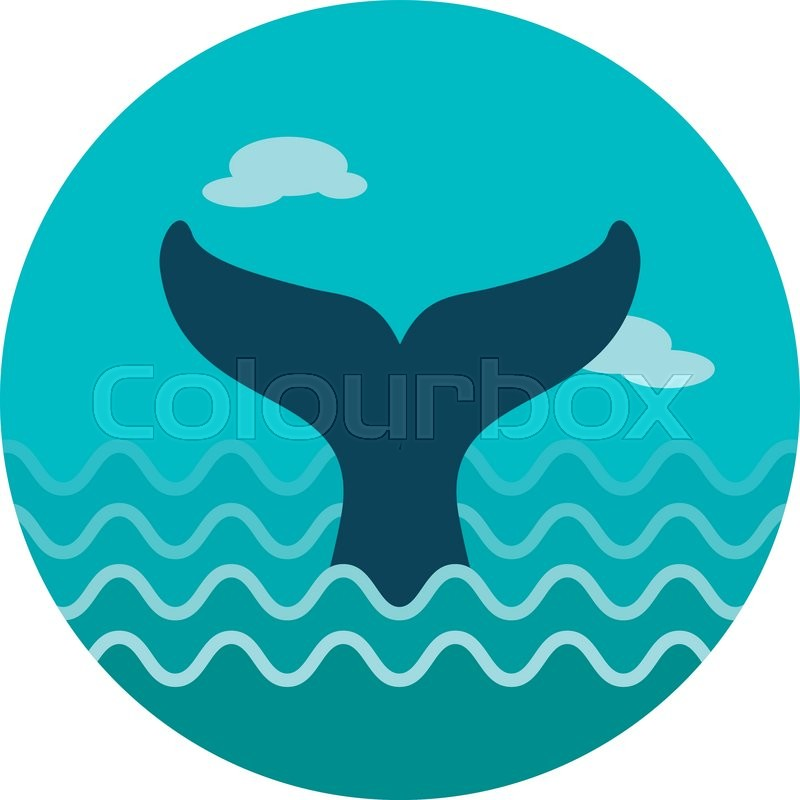 800x800 Whale Tail Vector Icon. Beach. Summer. Summertime. Holiday
