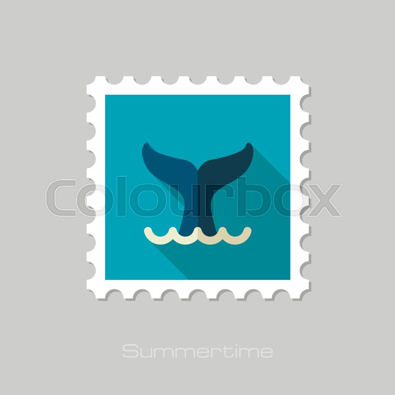 800x800 Whale Tail Vector Stamp. Beach. Summer. Summertime. Holiday